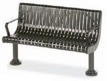 Powder-coated Metal Memorial Bench